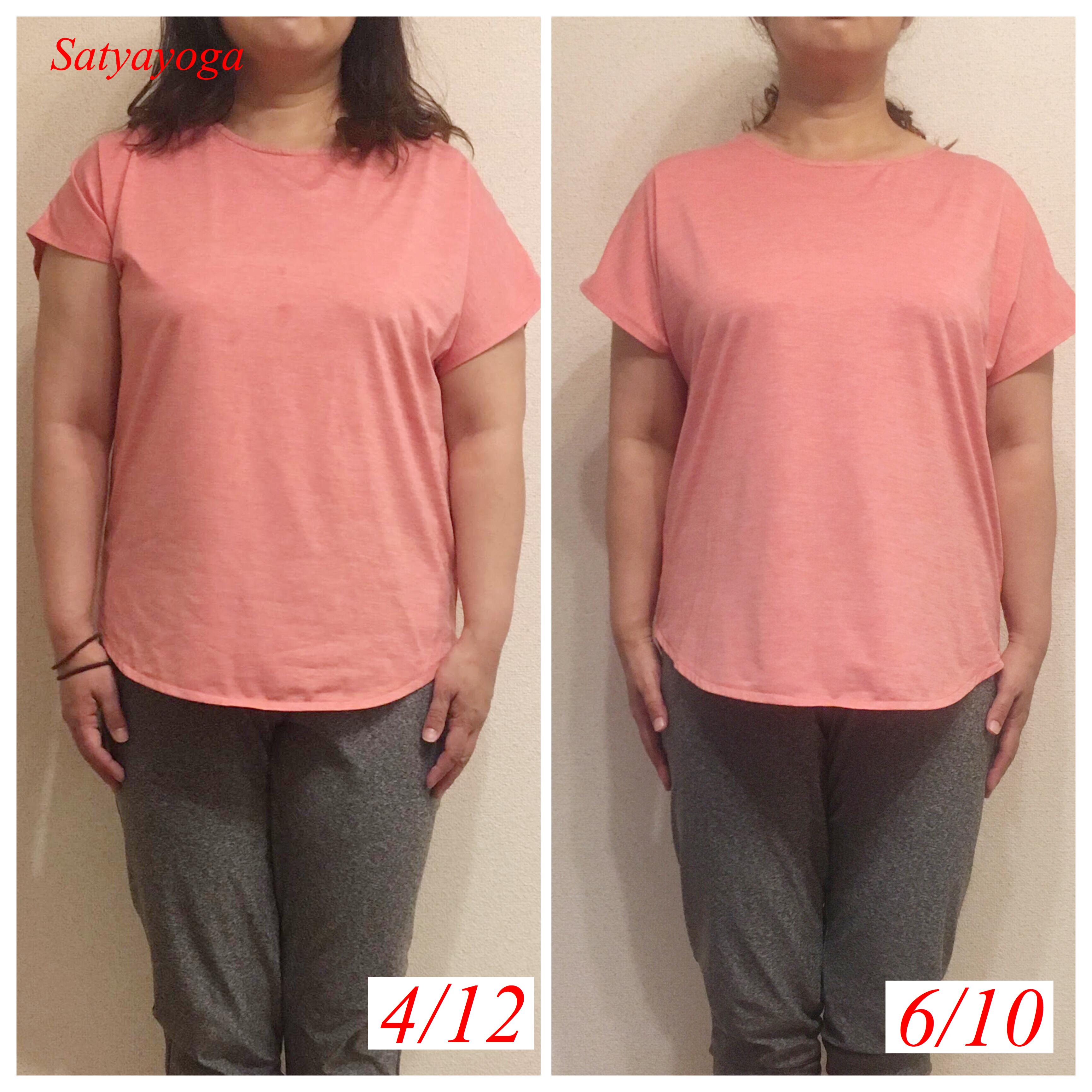 ダイエットヨガ3ヶ月目・-27.3cm、体重-6.2kg